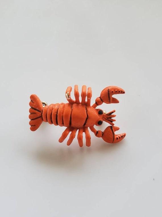 Vintage Lobster brooch Korea cute