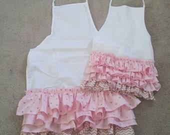 Child's ruffled apron