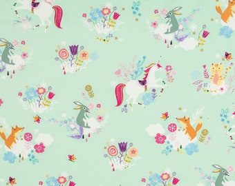 Shopping Cart Cover Boutique  (Mint Unicorn and Friends) Shopping Cart Cover, Restaurant High Chair Cover, Mall Stroller Cove