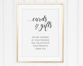 Wedding Card Box Sign Gift Table Sign Printable Wedding Etsy