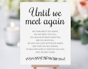 image regarding Missing Man Table Poem Printable named Memorial poem Etsy