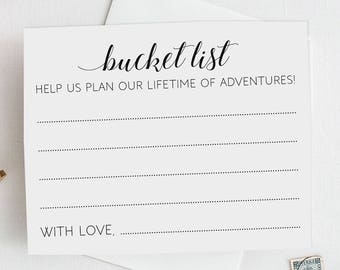 Wedding Bucket List Cards, Bucket List Wedding Cards, Cards for Bucket List, Printable Wedding Cards, Printable Bucket List, Alejandra