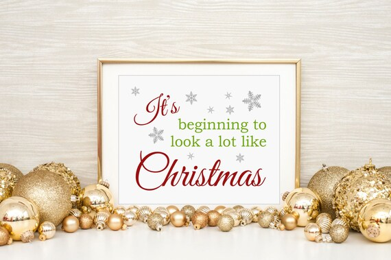 Its Beginning To Look A Lot Like Christmas Lyrics.Christmas Song Wall Art It S Beginning To Look A Lot Like Christmas Fun Holiday Decor Instant Download