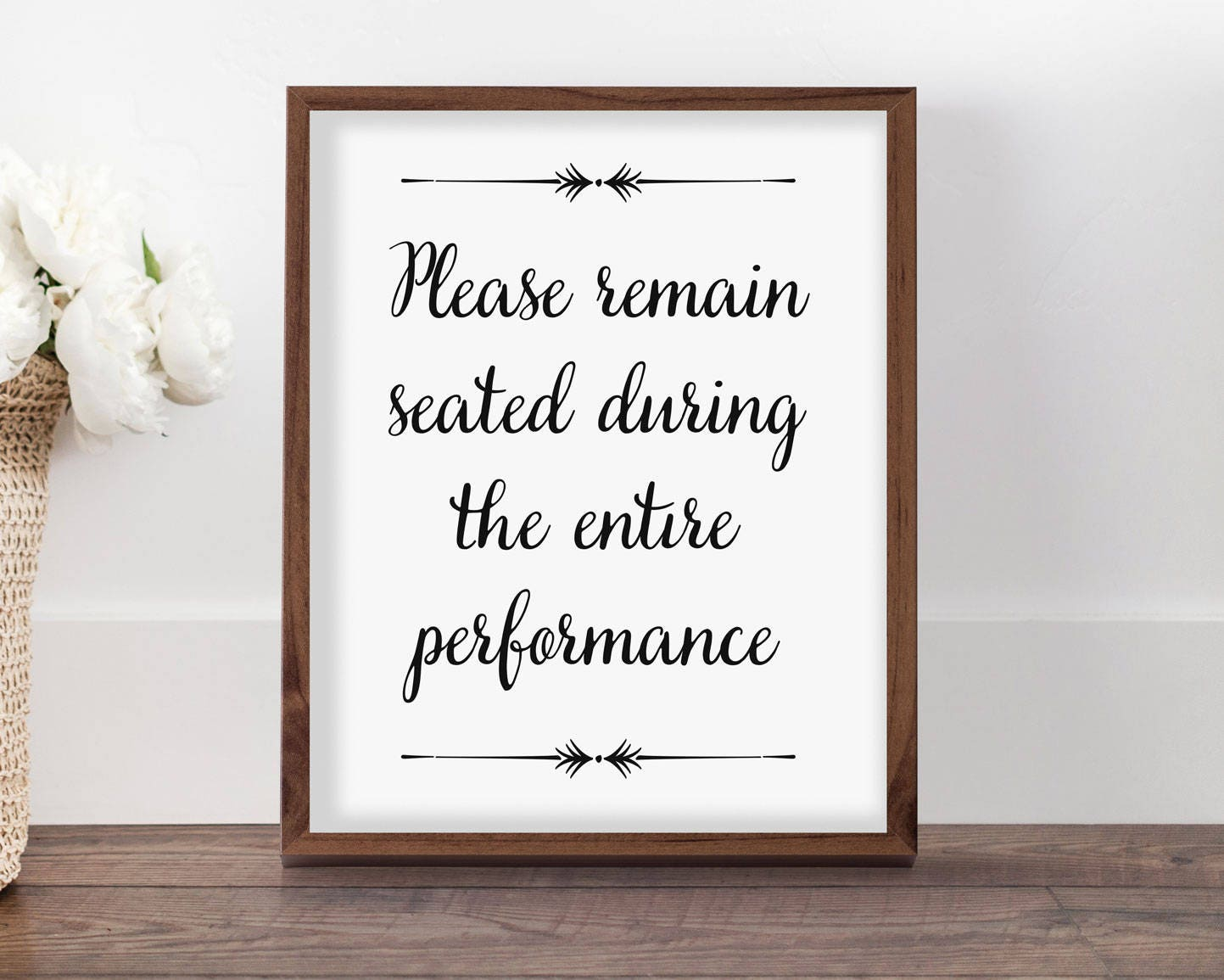 Funny Bathroom Sign Please Remain Seated Printable Art for ...