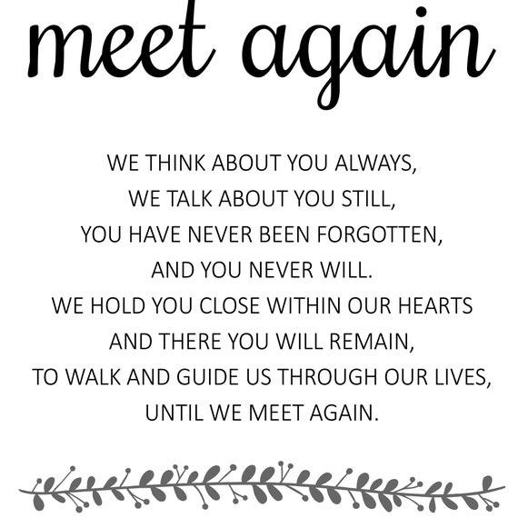 Again until poem meet we love 100 Best