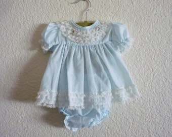 3abb50cd526e Vintage Blue Ruffle Swing Top + Bloomers