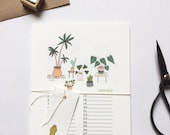 Birthday calendar, plants indoor