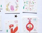Advent calendar cards, Christmas decor