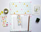 Birthday calendar, geometrics patterns A4