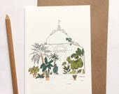 Greenhouse simple card with kraft envelope