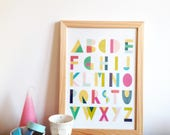 ABC Alphabet poster for kids room, letters