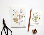 Botanical cards set