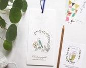 Birthday calendar, birds illustrations