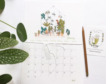 2022 calendar, with a planner, 2022 wall calendar