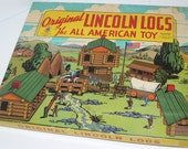 1930s The Original Lincoln Logs Box Set All American Toy with Instructions