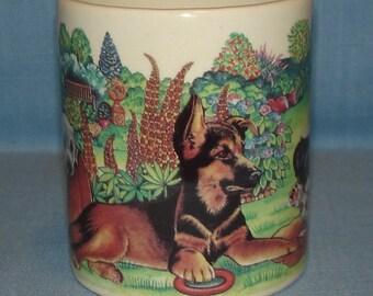 Ceramic Coffee Mug, Playful Puppies 1