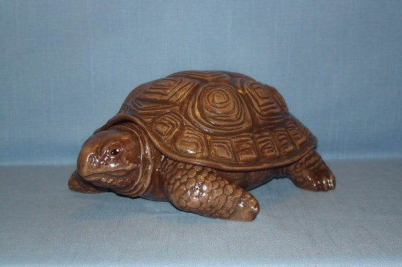 Ceramic Turtle Key Holder Jewelry Box Ready to Paint Bisque