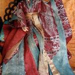 BJD kimono Flowergirl Silk and Sari brocade Kimono set 1/3 SD SD13 BJD dolls clothes outfit robes