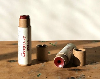 OCHRE LIP THERAPY iron oxide + alkanet root organic lipstick in compostable packaging! (0.15 oz paperboard tube)