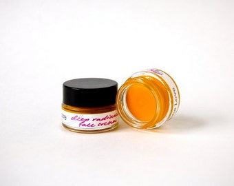Deep Radiance Face Cream - a luscious organic, truly all-natural facial moisturizer for smooth, lustrous skin (1/4 oz glass jar)