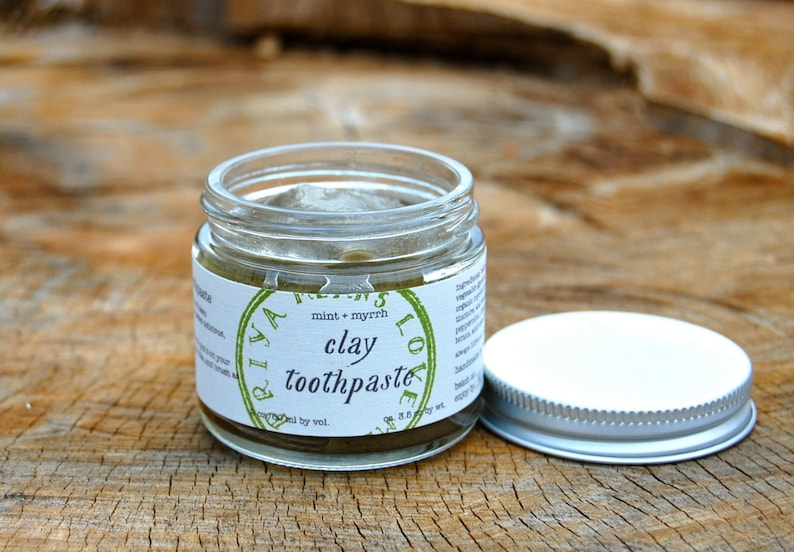 Mint  Myrrh Clay Toothpaste  all natural organic toothpaste image 0