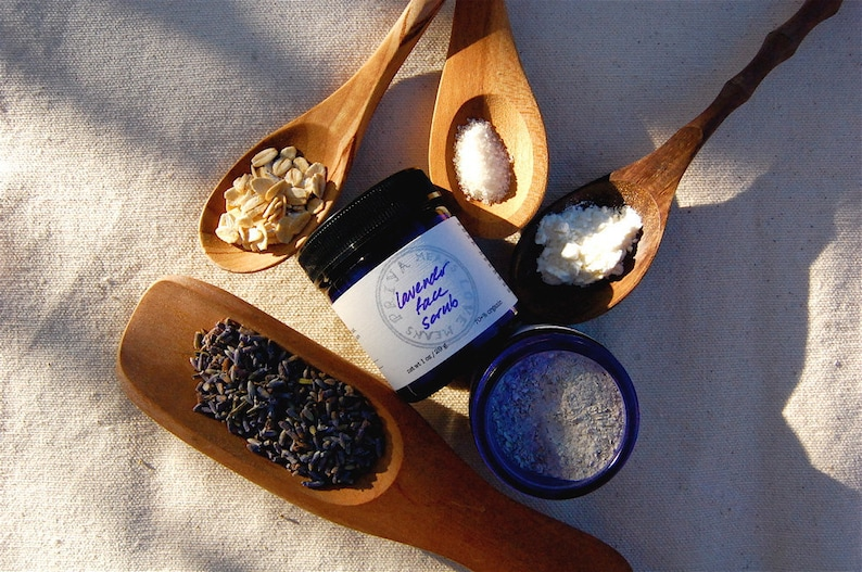 Lavender Face Scrub  a gentle organic facial cleanser and image 0