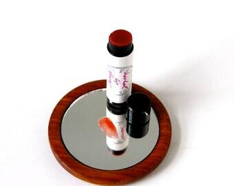 Herbal Lip Therapy - Organic, Botanically Colored Pink Super-Nourishing Lip Balm (0.15 oz tube or 1/2 oz tin)