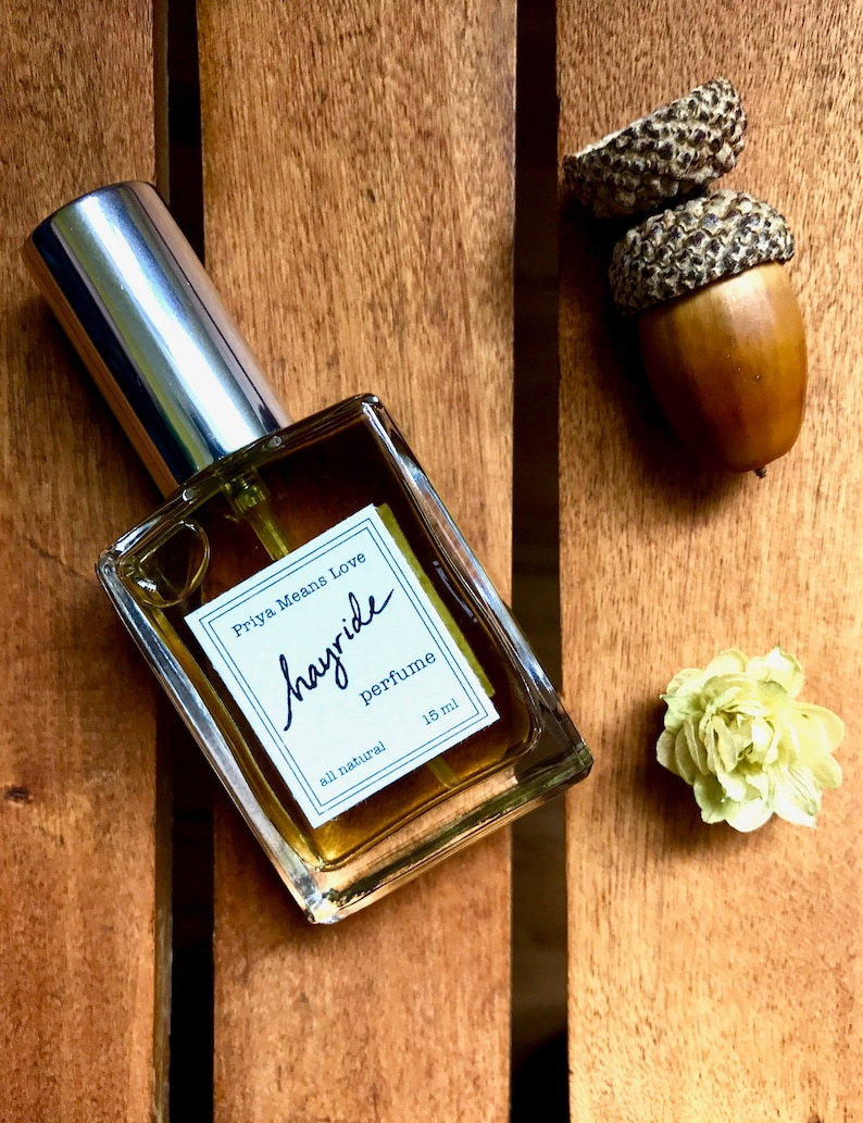 HAYRIDE perfume  all natural fall fragrance with notes of image 0