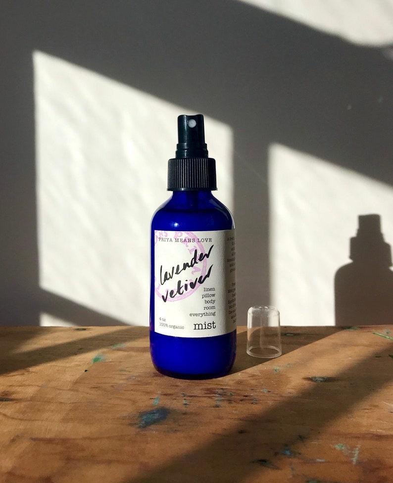 organic Lavender Vetiver linen spray  a calming spray for image 0