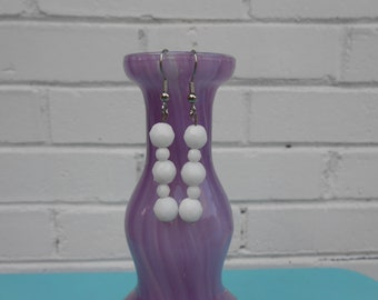 White Chalcedony Earrings