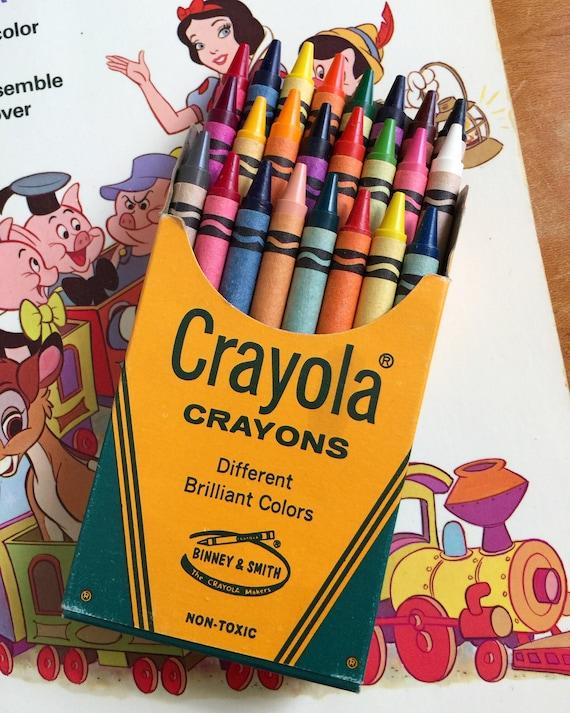 vintage 1960s crayola crayon 24 count set boxed unused vgc etsy