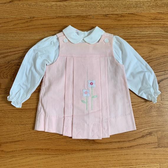 18M Vintage 1980s Toddler Dress Blouse Set, Samara