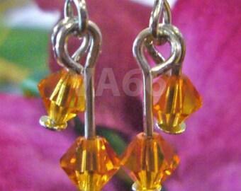Swarovski Double Crystal Earrings U Choose Col Present