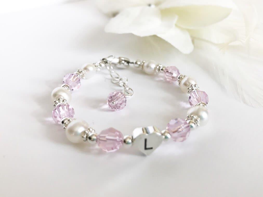 bapt me bracelet bracelet fille de fleur perle et bracelet etsy. Black Bedroom Furniture Sets. Home Design Ideas