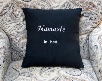 namaste in bed, namaste pillow, yoga pillow
