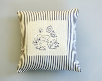 baby pillow, baby shower gift, nursery pillow, bunny pillow