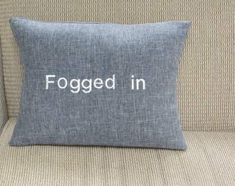 Fogged In gray and white pillow cover