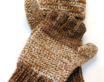 Alpaca Flip Mittens (Glittens) - For Men and Women