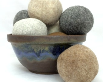 Alpaca Felted Dryer Balls - Set of 3 - Hypo-Allergenic, No Chemicals, Decreases Drying Time - FREE SHIPPING