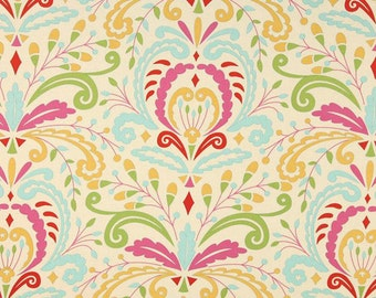 Kumari Garden Fabric By Dena Designs Sujata In Pink Green Blue Yellow