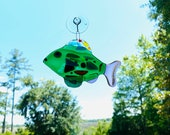 Fused Glass Fish Sun Catcher - FREE SHIPPING