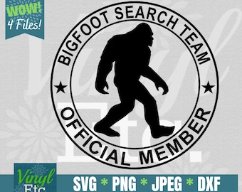 Bigfoot SVG, Bigfoot DXF, Bigfoot Search Team svg, Official Member svg, Sasquatch svg