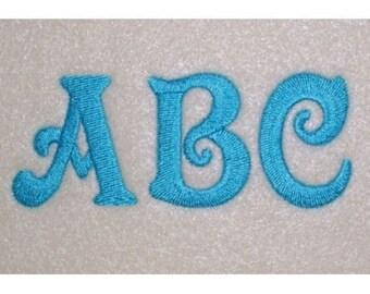3 letter circle embroidery machine alphabet monogram 2796 etsy
