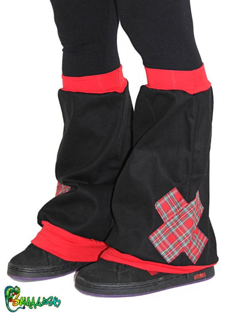 LEGGINGS black red Plaid
