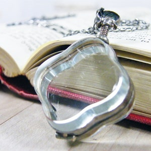 picture locket sterling silver flat glass triangle shape necklace antique finish exclusive design