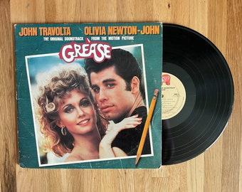 Vinyl Record Album Grease Original Soundtrack Double LP 1978 Musical Classic Olivia Newton-John John Travolta