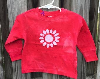 Flower Girl Shirt, Red Flower Girl Shirt, Red Flower Shirt, Flower Girl Gift, Red Girls Shirt, Kids Flower Shirt (18 months) SALE