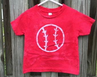 Kids Baseball Shirt, Red Baseball Shirt, Boys Baseball Shirt, Girls Baseball Shirt, Baseball Kids Shirt (18 months) SALE