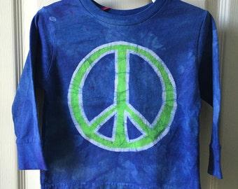 Kids Peace Sign Shirt, Boys Peace Sign Shirt, Girls Peace Sign Shirt, Blue Peace Sign Shirt, Green Peace Sign Shirt, Kids Peace Shirt (2T)