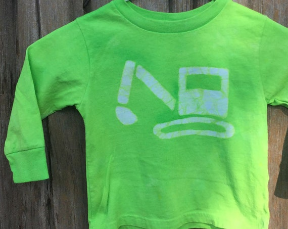 Kids Truck Shirt, Boys Truck Shirt, Girls Truck Shirt, Kids Excavator Shirt, Green Excavator Shirt, Kids Digger Shirt (2T) SALE